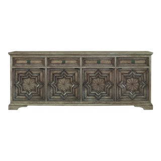 Century Furniture Casa Bella Carved Credenza - Timber Gray Finish For Sale