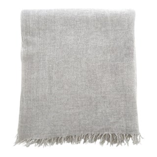 FirmaMenta Italian Ice Gray Gauze Throw For Sale