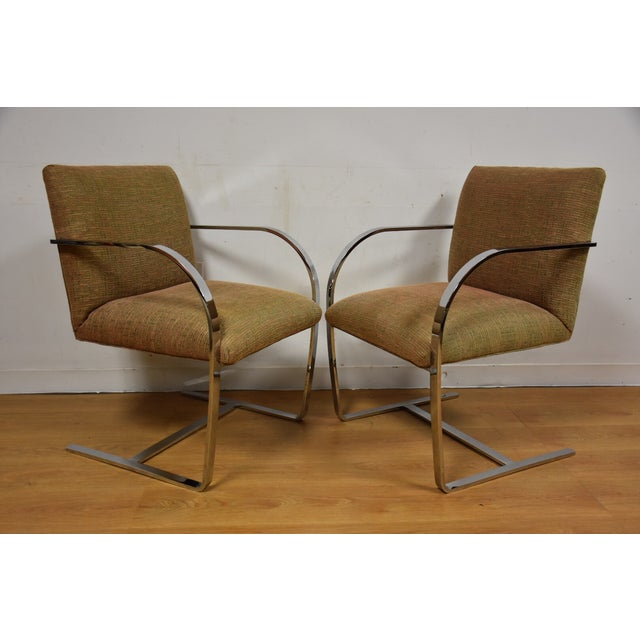 Cy Mann Chrome Flat Bar Lounge Chairs - a Pair - Image 2 of 9