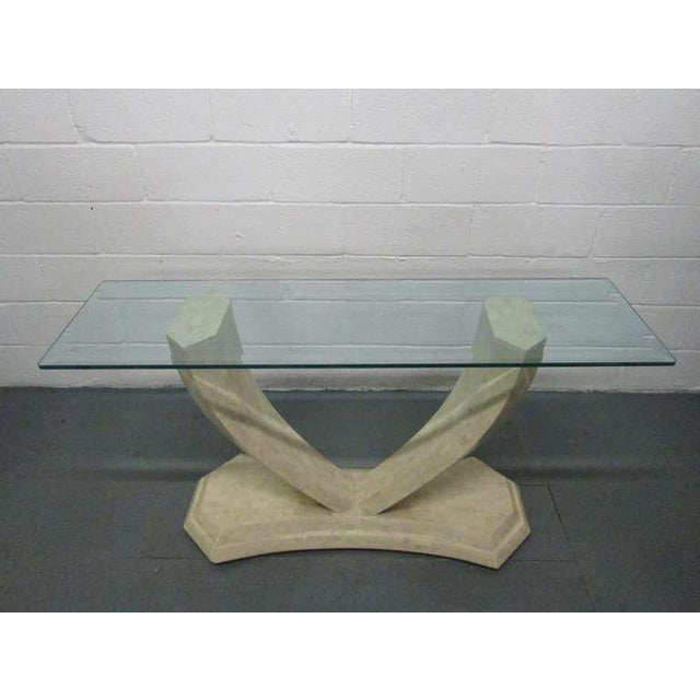 Maitland Smith Tessellated Console or Hallway Table.