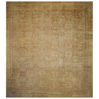 Antique Turkish Oversize Oushak Rug With Modern Design in Warm Earth Tones, 20' X 22'