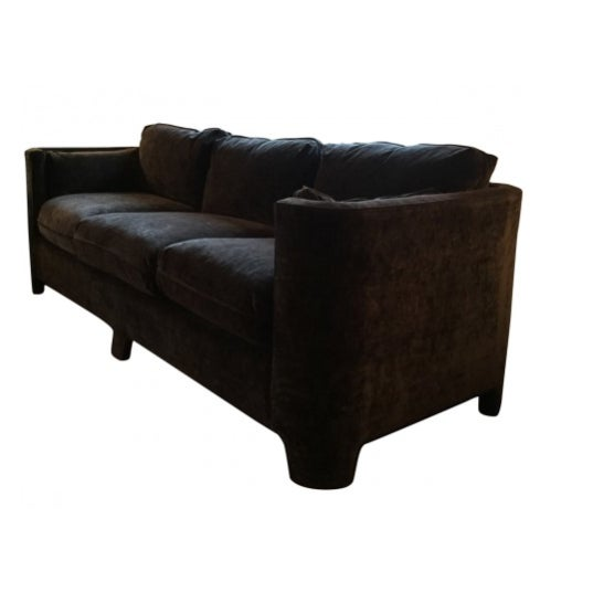 Cotton/poly blend fabric couch by Highland House.