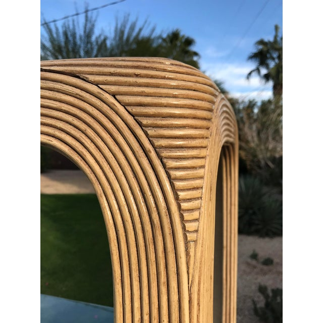 1970s Crespi Style Pencil Reed Bamboo Etagere For Sale In Palm Springs - Image 6 of 12