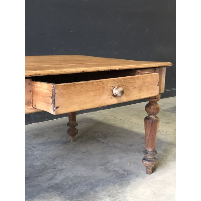 French Antique French Farm Table For Sale - Image 3 of 8