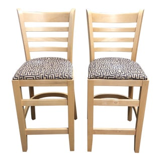 Maple Counter Stools by t.o.n., a Pair For Sale