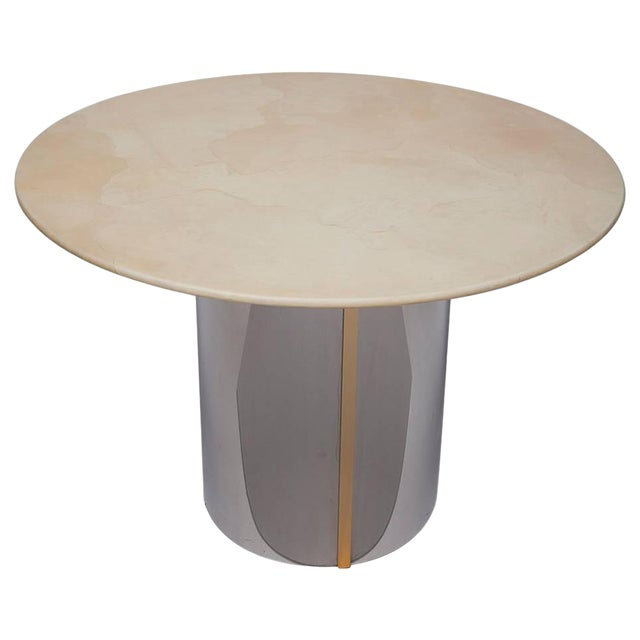 1970's Parchment Center Table For Sale