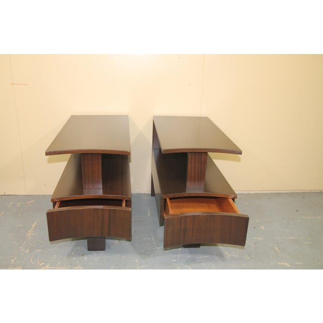 1930s Modernage African Mahogany Side Table For Sale In New York - Image 6 of 10