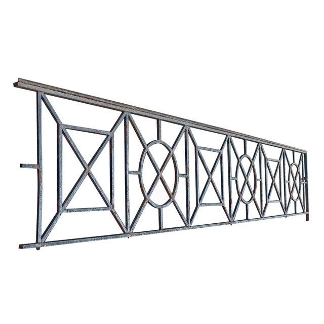 Beaux Arts Balcony Railing With Geometric Design   Chairish