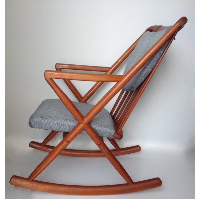 Benny Linden Danish Mid-Century Teak Rocking Chair For Sale In West Palm - Image 6 of 11
