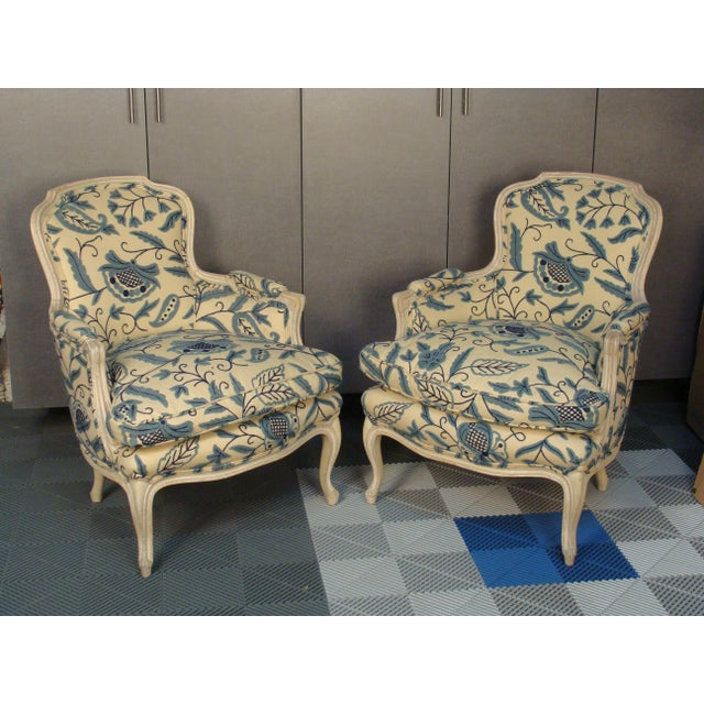 French Louis XV Style Bergere Chairs - A Pair - Image 2 of 8