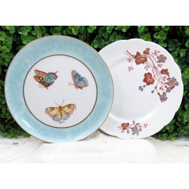 Mismatched Vintage Hand Painted Plates - Set of 4 - Image 3 of 11