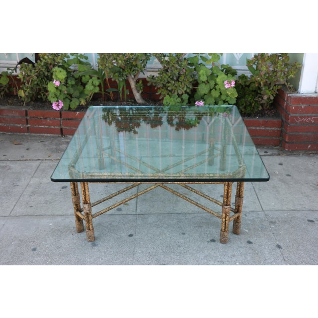 Elegant vintage coffee table, may be used indoor or outdoor. Very cute and well kept. Has a thick, heavy glass that's well...