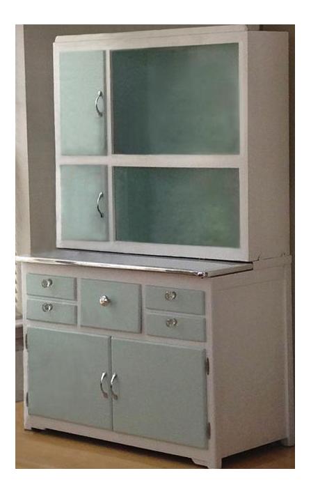 White u0026 Aqua Painted Hoosier Cabinet  sc 1 st  Chairish & White u0026 Aqua Painted Hoosier Cabinet | Chairish