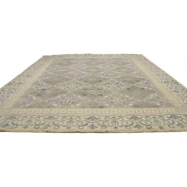 Contemporary 1900s Khotan Design Rug With Traditional Modern Style - 9′ × 10′7″ For Sale - Image 3 of 5