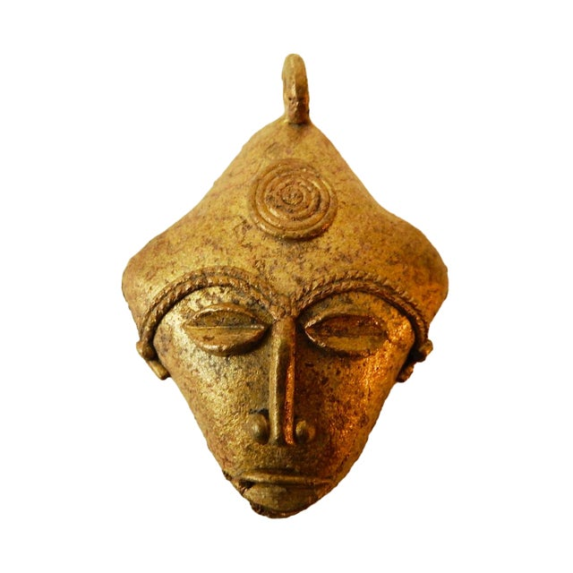 African Baule Gold Weight Passport Mask - Image 1 of 5