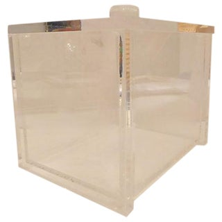 Midcentury Lucite Ice Bucket With Tongs