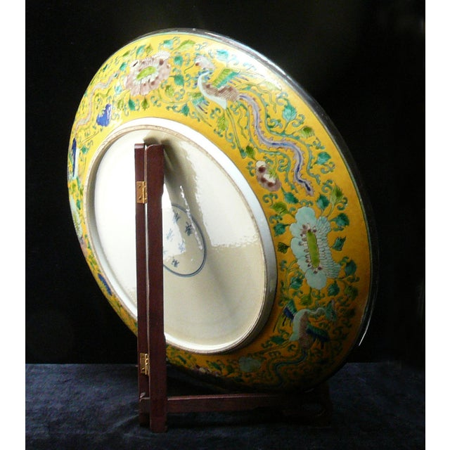 Chinese Yellow Color Phoenix Porcelain Plate - Image 4 of 5
