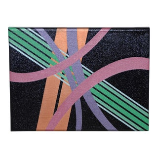 Charles Hersey Vintage Modernist Op Art Painting C.1971 For Sale