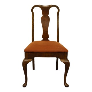 Berkey & Gay Flame Mahogany Traditional Queen Anne Style Splat Back Side Chair For Sale