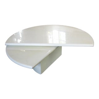 Vintage Space Age Mid-Century Expandable Wedge Shaped Coffee Table For Sale