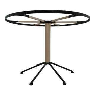 Mid-Century Round Iron Pedestal Dining Table Base