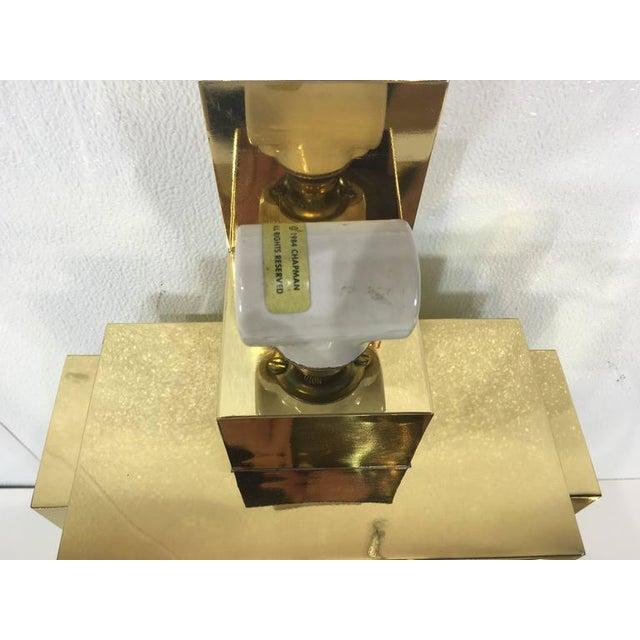 Karl Springer Style Brass Tabel Lamp For Sale In Atlanta - Image 6 of 7