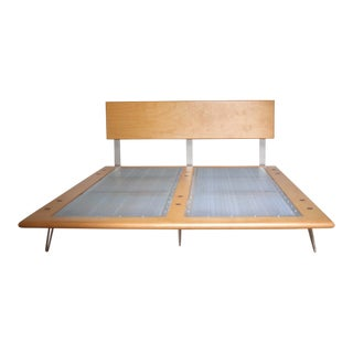 Case Study Full Size Natural Finish Bed For Sale