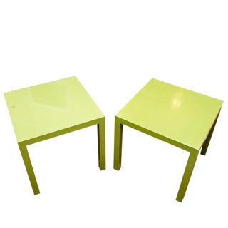 1960s Contemporary Founders Parsons Bright Green End Tables - a Pair For Sale