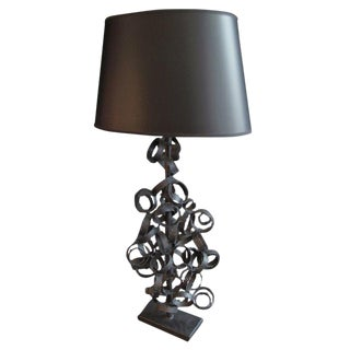 1960s Welded Steel Ring Table Lamp by Harry Balmer For Sale