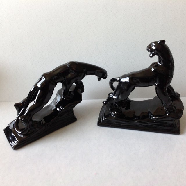 Mid-Century Panther Figures by Royal Haeger - Pair - Image 3 of 11