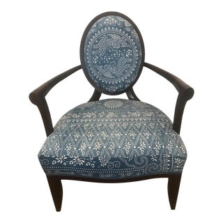 Barbara Barry for Baker X-Frame Oval Back Armchair For Sale