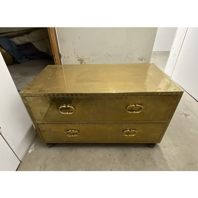 Gold Chest of Drawers Cocktail Table For Sale - Image 4 of 9