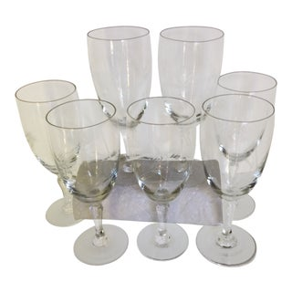 Vintage Noritake Sasaki Wheat Pattern Cocktail/Wine Glasses - Set of 7 For Sale