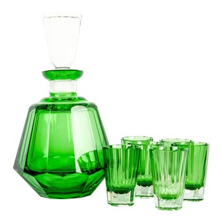 Daum Cut Crystal Liqueur Set
