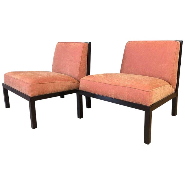 Michael Taylor for Baker Far East Collection Slipper Chairs - A Pair For Sale