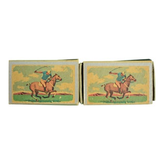 1955 Ohio Blue Tip Polo Matchbooks - A Pair For Sale