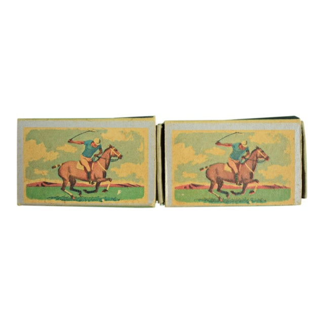 1955 Ohio Blue Tip Polo Matchbooks - A Pair - Image 1 of 4
