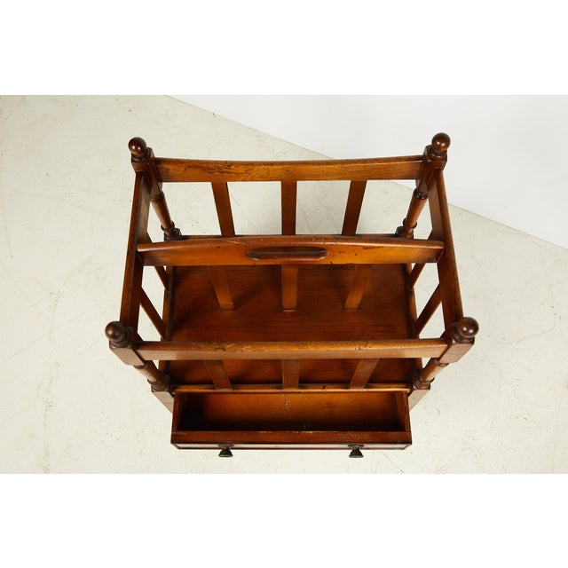 Early 20th Century English Sheraton Style Canterbury For Sale In Atlanta - Image 6 of 13