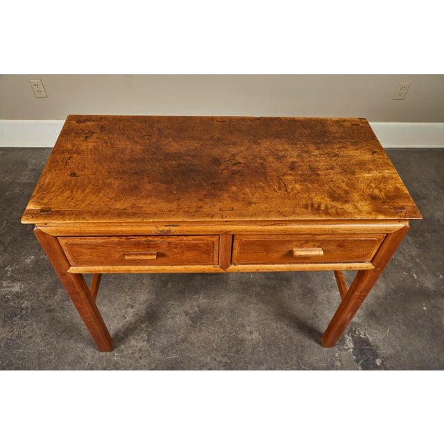 Early 20th C. French Colonial Tigerwood Console For Sale - Image 9 of 10