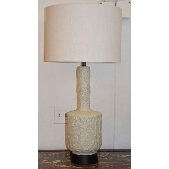 Plaster Mid-Century Modern Plaster Lamp For Sale - Image 7 of 8