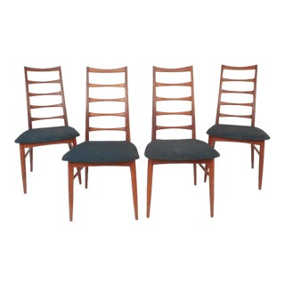 Niels Kofoed Mid-Century Modern Ladder Back Dining Chairs - Set of 4 For Sale