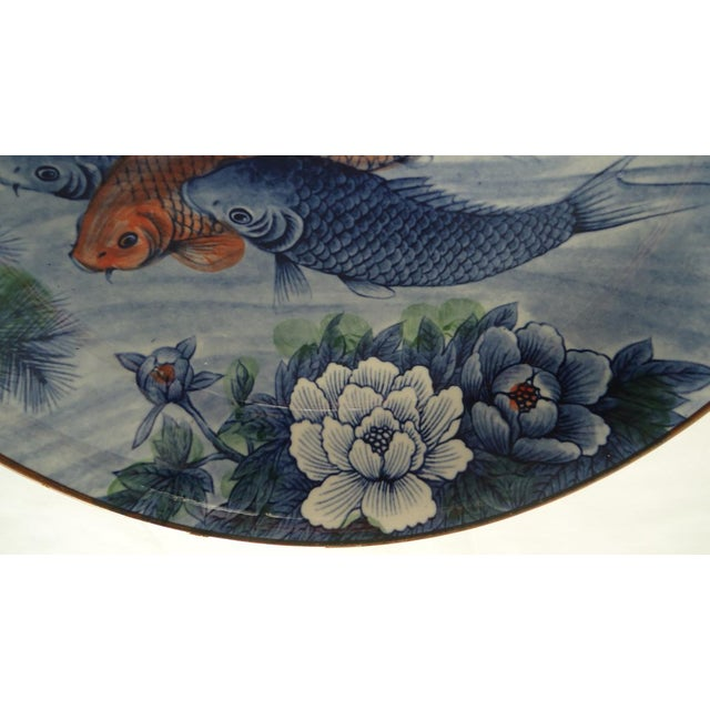 Japanese Serving Bowl with Koi Fish - Image 4 of 7