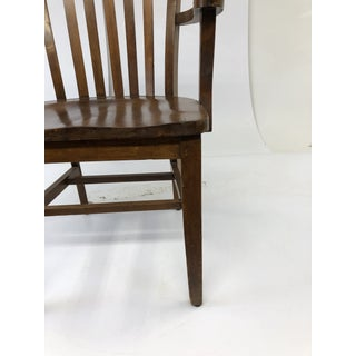 VIntage Industrial Wood Bankers Chair Preview