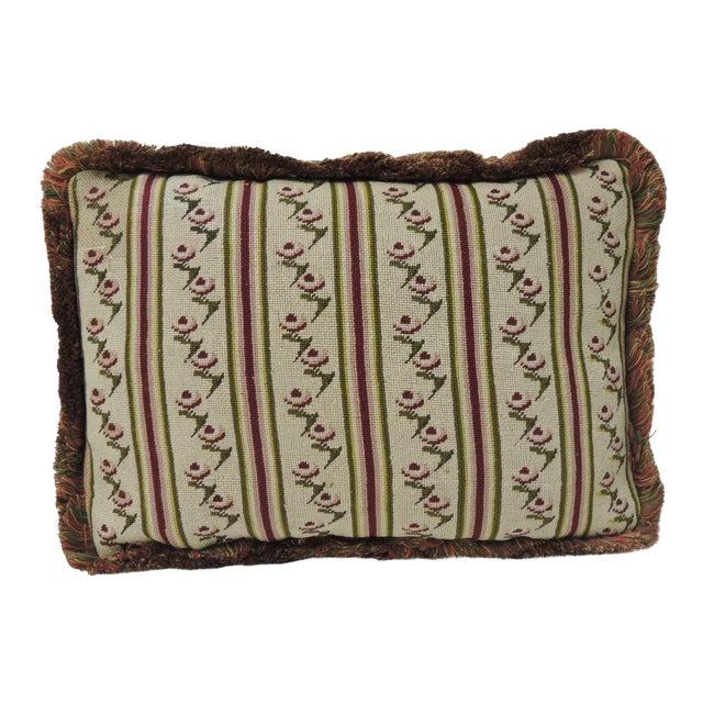 Antique Tapestry Petite Floral Decorative Pillow For Sale