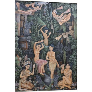 Balinese Bathing Ladies Painting For Sale