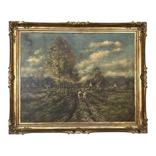 19th Century Framed Oil Painting on Canvas by Paul Schouten (1860-1922) For Sale