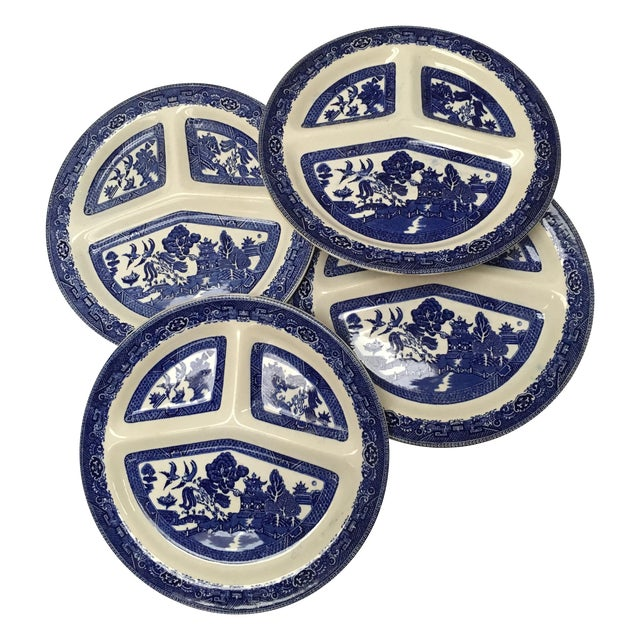 Vintage Blue Willow Romarco Plates - Set of 4 For Sale