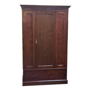 Uk Import Custom Built Mahogany Armoire C.1920 For Sale