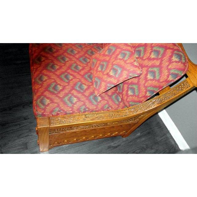 Romweber Viking Oak Carved Wood Low-Arm Sofa - Image 5 of 11