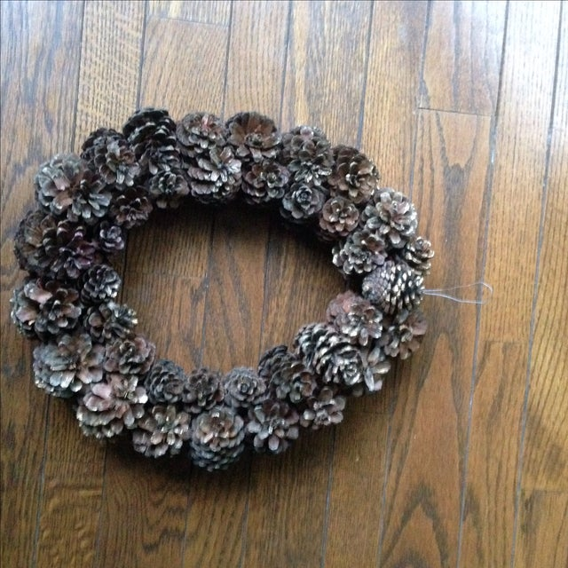 Vintage Natural Pinecone Wreath - Image 11 of 11